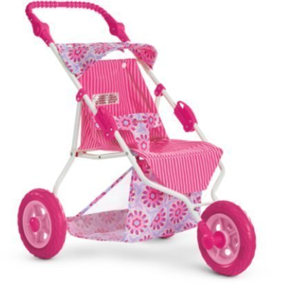 American Girl Bitty's Jogging Stroller Pink Floral for 15 Baby Dolls NEW by American Girl