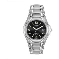 Citizen Eco-Drive Men's Titanium Watch – BM6060-57F, Size: Large, Grey