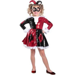 Girls' Harley Quinn Costume – XS, Multicolored