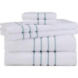 Grand Patrician Hotel Suite 6-piece Bath Towel Set, Dark Grey