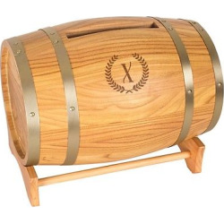 Wood Wine Barrel Card Holder – X