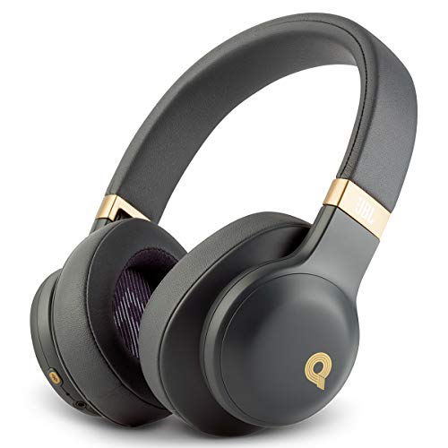 JBL E55BT Quincy Edition Wireless Over-Ear Headphones with One-Button Remote and Mic (Black Matte)