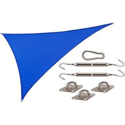 Coolhaven Shade Sail Kit Right Triangle 15'x12'x9′ – Sapphire (Blue) – Coolaroo