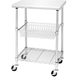 Seville Stainless Steel Chef's Work Table, Grey