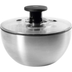 OXO Good Grips Stainless Steel Salad Spinner, Grey