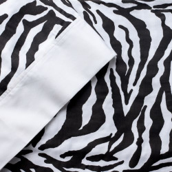 Elite Home Products 300-Thread Count Animal Print Sheets, Black King Set
