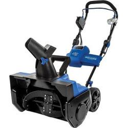 Snow Joe Ion Pro Series 21 in Cordless Single Stage Cordless Snow Blower, Blue