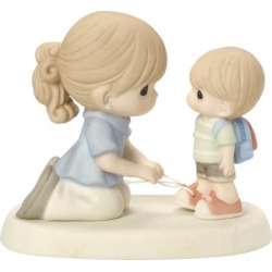 Precious Moments Love Ties Us Together Mother & Son Figurine, Multicolor