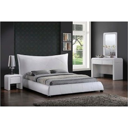 Corie Modern Platform Bed – White (King) – Baxton Studio