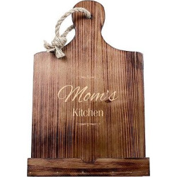 Mother's Day 'Mom's Kitchen' Wood iPad Stand, Brown