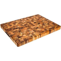 Teak Haus End Grain Cutting Board – 20, Wood