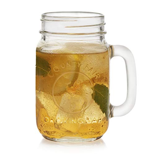Libbey County Fair Drinking Jar Glasses, Set of 12