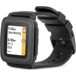 Pebble Time Smartwatch – Black (Refurbished)