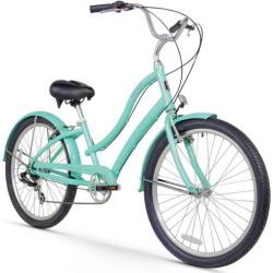 Women's Firmstrong CA-520 Mint 26-Inch Seven Speed Beach Cruiser Bike, Green