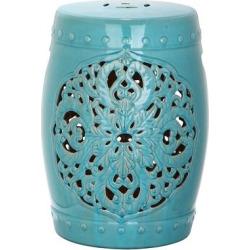 Panarea Garden Stool – Blue – Safavieh
