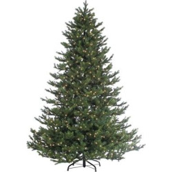 7.5ft Pre-Lit Artificial Christmas Tree Rockford Pine – Clear Lights, Multi-Colored