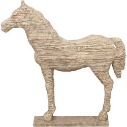 Traditional Carved Horse Sculpture (19) – Olivia & May, Corolla Sand