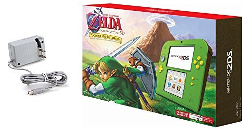 Nintendo 2DS Bundle (2 Items): Nintendo 2DS with the Legend of Zelda Ocarina of Time 3D – Link Edition and Tomee AC adapter
