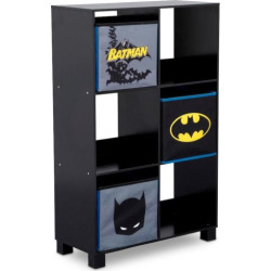 Delta Children DC Comics Batman 6-Cubby Deluxe Storage Unit, Multicolor