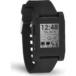 Pebble Smart Watch for iPhone and Android Devices – Black