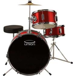 Union Junior 3-pc. Drum Set, Red