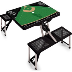 Outdoor Picnic Time Chicago White Sox Portable Picnic Table with Field Design, Oxford