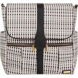 JJ Cole Backpack Diaper Bag, Black and Cream