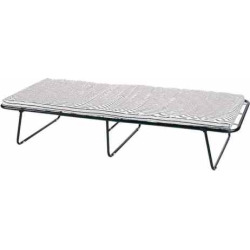Stansport Steel Cot with Mattress, Black