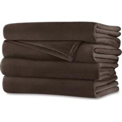 Velvet Plush Heated Blanket (King) Walnut (Brown) – Sunbeam