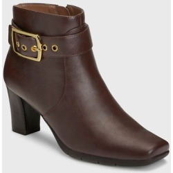 Women's A2 by Aerosoles Monorail Ankle Boots – Brown 10