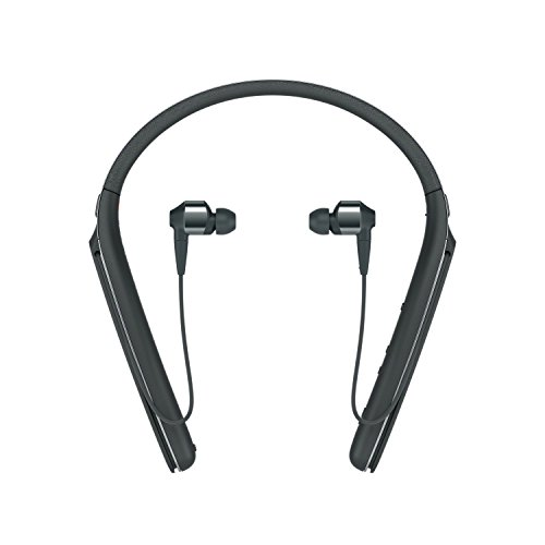Sony Premium Noise Cancelling Wireless Behind-Neck in Ear Headphones – Black (WI1000X/B)