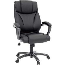 Sauder Gruga Executive Leather Desk Chair, Black