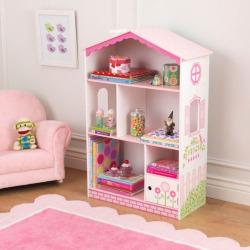 KidKraft Dollhouse Cottage Bookcase, Multicolor