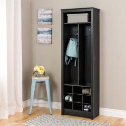 Prepac Entryway & Shoe Storage Cabinet, Black