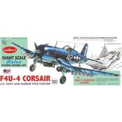 Guillow's 1:16 Vought F4U-4 Corsair Model Kit, Multicolor