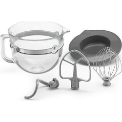 kitchenaid f series 6 quart glass bowl accessory bundle ksmf6gb clear - Allshopathome-Best Price Comparison Website,Compare Prices & Save