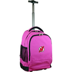 New Jersey Devils Premium Wheeled Backpack, Pink