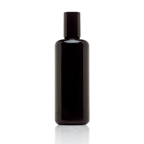 Infinity Jars 100 ml (3.4 fl oz) 10-PACK Set Black Ultraviolet Glass Bottle w/Glass Ball Roll on Tip