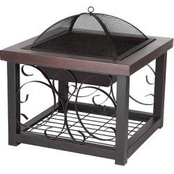 fire sense hammer tone bronze finish cocktail table fire pit brown - Allshopathome-Best Price Comparison Website,Compare Prices & Save