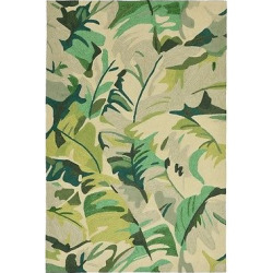 Capri Palm Leaf Rug – Green – (2'X8′ Runner) – Liora Manne