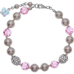 crystal avenue silver plated simulated pearl and crystal bracelet made with - Allshopathome-Best Price Comparison Website,Compare Prices & Save