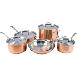 Calphalon Copper Tri-Ply 10-pc. Cookware Set, Multicolor