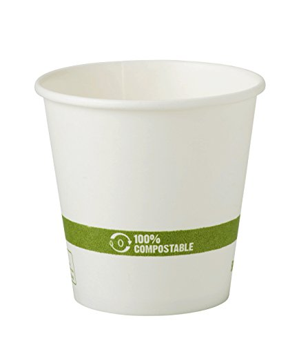 World Centric CU-PA-10 100% Compostable FSC Mix Paper Hot Cups, 10 oz, White (Pack of 1000)