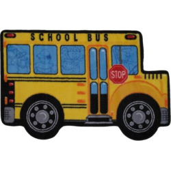 Fun Rugs Fun Time School Bus Rug, Multicolor