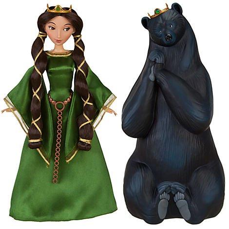 Disney / Pixar BRAVE Movie Exclusive Doll Set Queen Elinor Bear
