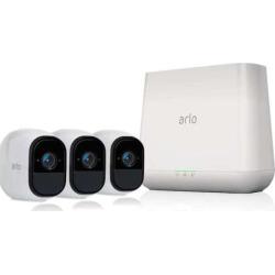 Netgear Arlo Pro Wire-Free HD 3-Camera Security System, White