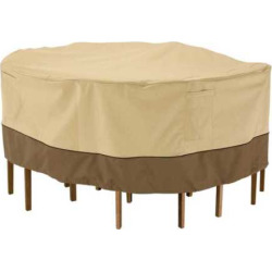 Classic Accessories 72-in. Table Chair Cover – Outdoor, Brown