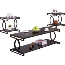 3 Piece Occasional Table Set Black – Acme