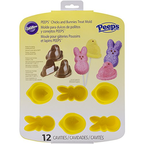 Wilton Peeps Bunny and Chick 12 Cavity Silicone Pan Mold