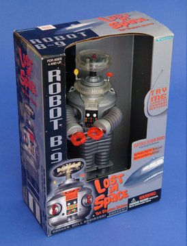 Classic Lost In Space B9 ROBOT Electronic light, sound, & Motion 10″ Action Figure (1997 Trendmasters)